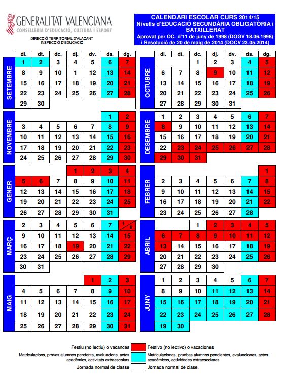 Calendario Escolar 2020 2020 Comunidad Valenciana.Mostrando Articulos Por Etiqueta Eso